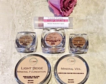 Mineral Makeup • 6 Piece Makeup Gift Set Starter Kit • Gluten Free &  Vegan Mineral Makeup • Earth Mineral Cosmetics