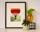 Personalized Art Print - Hot Air Balloon