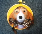 Brandon the Beagle Needle Felted Picture