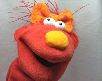 Tinker Toon Hand Puppet - Red Girl with Red Hair (moving mouth)