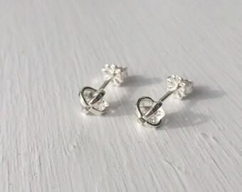 SALE - Herkimer Diamond Earrings - Sterling Silver - 6mm