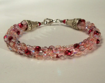 Pink and Raspberry Bracelet