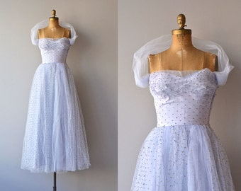 Little Darling dress | vintage 1950s dress • polka dot tulle 50s party dress
