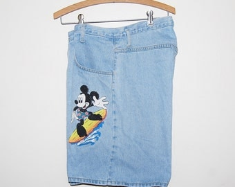 Mickey Mouse Vintage High Waist Short