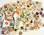 Postage Stamps Lot on Paper -  Ireland vintage with a few other countries