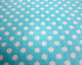 Polka Dots Cotton Fabric - Medium Dots in Bright Blue Fabric By The Yard - Half Yard