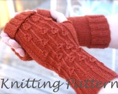 Allium Fingerless Gloves Knitting Pattern PDF