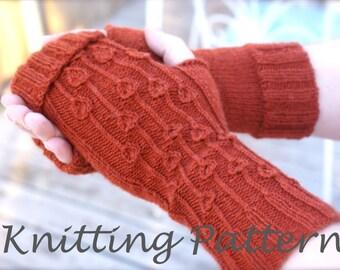 Allium Fingerless Gloves Knitting Pattern PDF