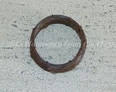 22 gauge rusty wire coil   primitive rusty wire   30 feet rusty wire   Rusty Primitives   Primitive supplies   Doll making supplies