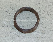 22 gauge rusty wire coil, primitive rusty wire, 30 feet rusty wire