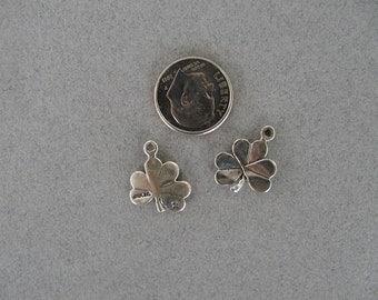Shamrock Clover Irish  Sterling Silver Charm