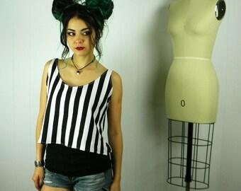Black Striped Swing Tank Top, Black Striped Tank Top, Swing Top, Tank Top, Striped Clothing, Striped Swing Top