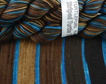 Save a Horse - Hand-dyed Self-striping sock yarn