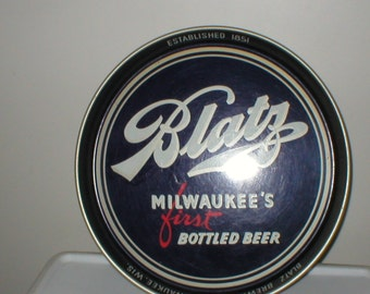 50s collectible Blatz tin tray by Canco