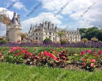 Chenonceau Castle & Gardens Loire Valley Chenonceaux, France Fine Art Photography Photo Print YOU CHOOSE STYLE!