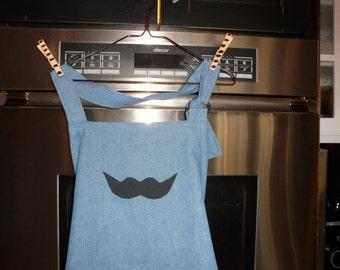 Mustache Manly Apron