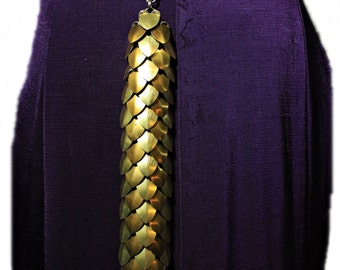 Gold and Bronze Scalemail small DRAGON TAIL Dragon Scale chainmail armor LARP Cosplay