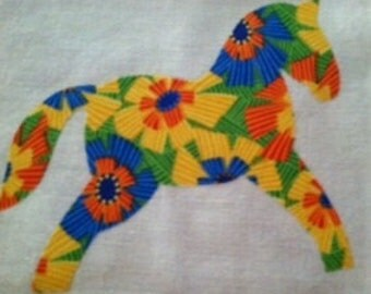 Little Pony Applique Quilt Blocks