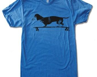 Men's Longboard DACHSHUND t shirt american apparel s m l xl xl (17 Colors)