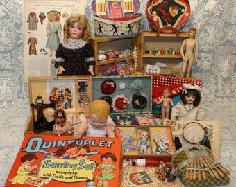 Encyclopedia of Children's Sewing Collectibles-Book on Doll Sewing-Patterns-Presentation Sets