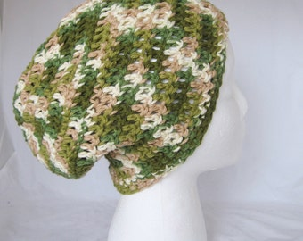 Camo - crochet cotton hat