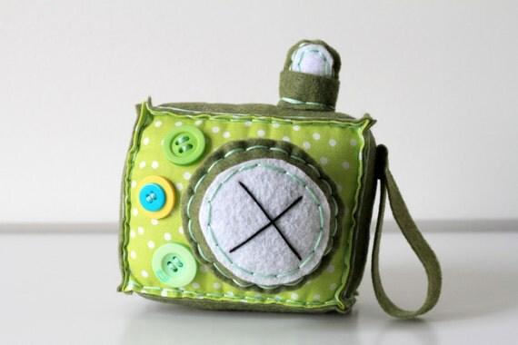 Limeade Green Plush Camera