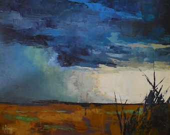 Storm Giclee Print On Canvas, Storm Landscape Print, Carol Schiff Prints, Free Shipping, Choose your size, ready to hang, No frame required