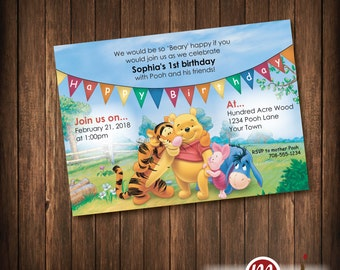 INVITATION: Winnie the Pooh Birthday