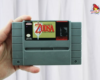 SOAP with dust cover Zelda: Link to the Past cartridge parody, retro video game geek gift