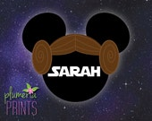 Mouse Head for Disney Cruise Cabin Door Magnet - Princess Leia