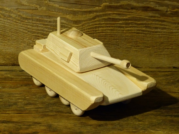 Wood Toy Army Tank M1A1 Wooden Toys Handmade Woodworking