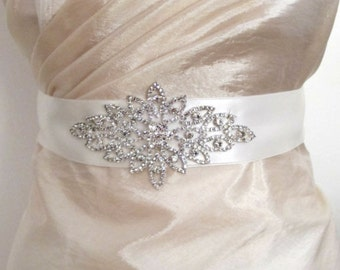 Rhinestones Sashes Beaded Bridal Wedding Belts