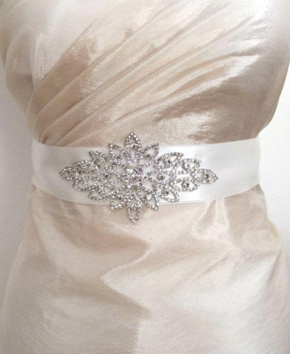 Rhinestones Sashes Beaded Bridal Wedding Belts