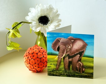 "5.7"" X 5.7"" 'Close to you'  Greeting Card by Nkolika Anyabolu.Blank on the inside. Perfect for adding a personal touch."