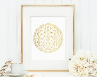 Sacred Geometry - Flower of Life - Gold