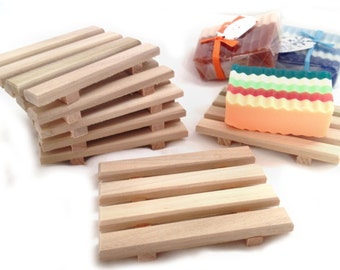 8 handcrafted natural wood soap dishes - mini bulk order at LOW discounted pricing - LIMITED time only