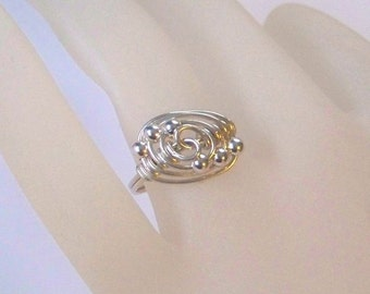 Sterling Silver Ring - When the Stars Align - Wire Wrapped Ring - Sterling Silver Wrapped Ring - All Sizes Available