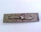 SALE!  Arts & Crafts Sterling Pin Vintage Silver Floral