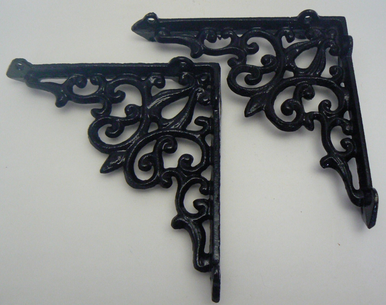 Wall Bracket Cast Iron Shelf Ornate Brace By
