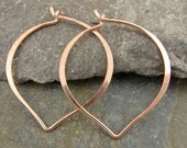 Handmade Petal Hoops - Ear Wires -  Rose Gold Vermeil - One Pair - ewphr