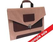 """13"""" MacBook Air briefcase - old pink corduroy"""