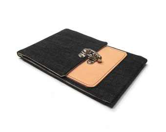 iPhone 6 Plus / Galaxy Note wallet - denim