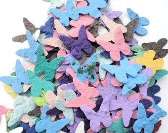 Seed Paper Butterflies diy wedding favors place cards save the date cards creative invitations qty. 200