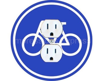 Bicycle Sign Duplex Outlet Plate Cover