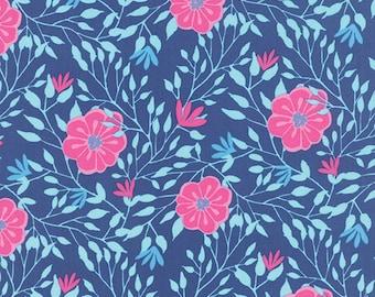 Lagoon Blue Pink Paradiso Fabric - Moda - Kate Spain - 27202 12