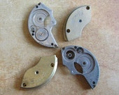 Vintage metal pocket Watch plates   - Steampunk - Scrapbooking b8