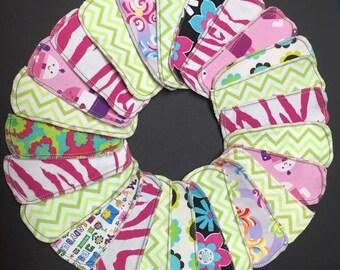 Set of 10 MamaBear LadyWear Quick-Dry cloth menstrual pads - Dailywear Wingless Pantiliners