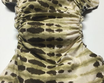 MamaBear One Size Fitted Cloth T-shirt Diaper - Desert Camo