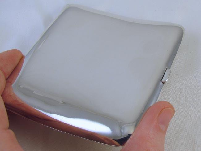 Cigarette case sterling silver Art Deco signed Watrous 3.2 ounce M121C&E