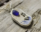English Sea Glass Pottery Mermaid Necklace